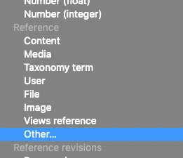 Dropdown select with Reference: Other selected